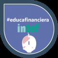 """Imagen insignia NOOC """"Ahorro, porque yo lo merezco"""" - #educafinanciera"""