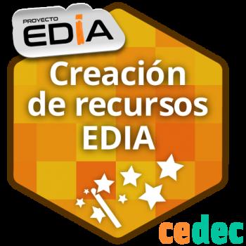 Creación de recursos educativos abiertos del proyecto EDIA.