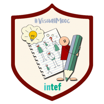 Insignia del MOOC Visual Thinking en Educación (2ª edición) #VisualMooc