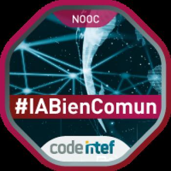 """Imagen insignia NOOC """"Inteligencia Artificial para el bien común (1ª edición)"""" - #IABienComun"""