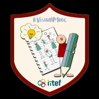 """Imagen insignia MOOC """"Visual Thinking en Educación (3ª edición)"""" - #VisualMooc"""