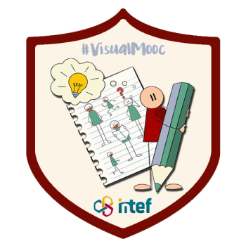 """Imagen insignia MOOC """"Visual Thinking en Educación (4ª edición)"""" - #VisualMooc"""