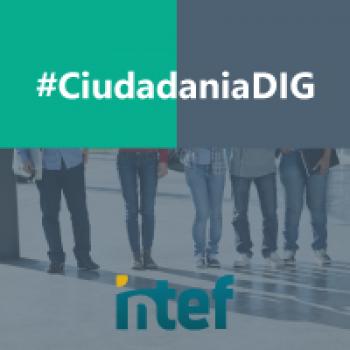 """Imagen insignia NOOC """"Ciudadanía digital (3ª edición)"""" - #CiudadaníaDIG"""
