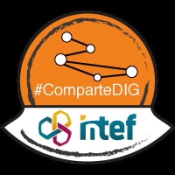 """Imagen insignia NOOC """"Compartir en red (2ª edición)"""" - #ComparteDIG"""
