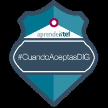 Imagen insignia NOOC Condiciones de uso, Big Data y economía de la red (1ª edición) - #CuandoAceptasDIG