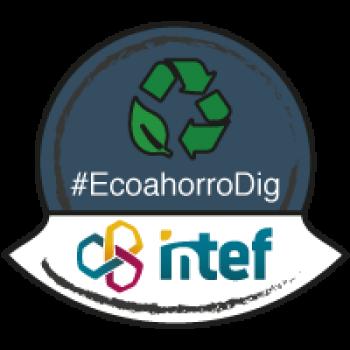 """Imagen insignia NOOC """"Ecoahorro (2ª edición)"""" - #EcoahorroDig"""