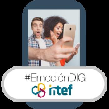 """Imagen insignia NOOC """"Gestión de las emociones en la red (2ª edición)"""" - #EmociónDIG"""