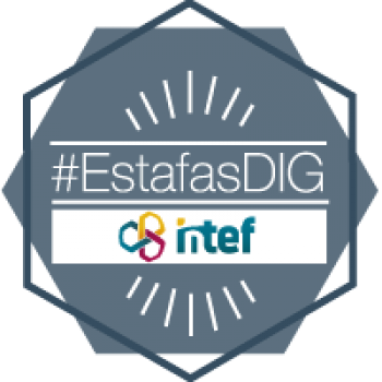 Imagen insignia NOOC Estafas y fraudes en la red (2ª edición) - #EstafasDIG