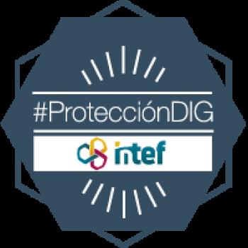 """Imagen insignia NOOC """"Medidas básicas de protección digital (3ª edición)"""" - #ProtecciónDIG"""