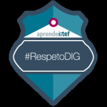 """Imagen insignia NOOC """"Respeto digital y protección de datos personales (2ª edición)"""" - #RespetoDIG"""