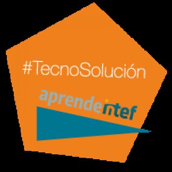 """Imagen insignia NOOC """"La tecnología resuelve problemas (2ª edición)"""" - #TecnoSolución"""