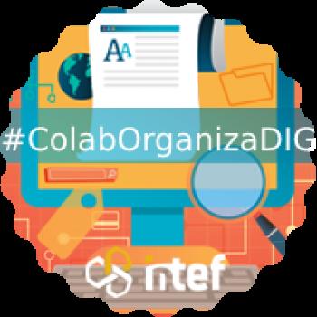 """Imagen insignia NOOC """"Colabora y organiza en digital (1ª edición)"""" - #ColabOrganizaDIG"""
