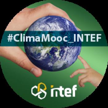 """Imagen insignia MOOC """"Concienciación y capacitación en materia de cambio climático para docentes"""" - #ClimaMooc_INTEF"""