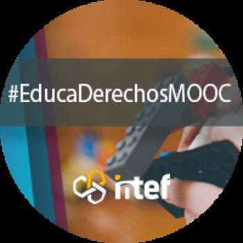 """Imagen insignia MOOC """"Educación en derechos de la infancia y ciudadanía global (2ª edición)"""" - #EducaDerechosMOOC"""