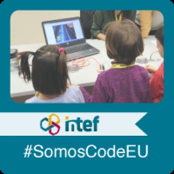 """Imagen insignia NOOC """"Organiza una actividad para CodeWeek, la Semana Europea de la Programación (3ª edición)"""" - #SomosCodeEU"""