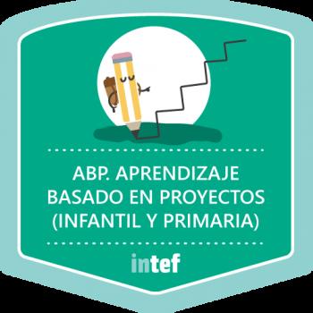 """Imagen insignia curso tutorizado """"ABP. Aprendizaje basado en proyectos: Infantil y Primaria"""". Edición octubre de 2016"""