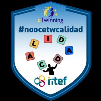 """Imagen insignia NOOC """"Calidad en eTwinning (3ª edición)"""" - #noocetwcalidad"""