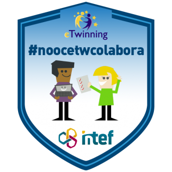 """Imagen insignia NOOC """"Colabora en eTwinning (3ª edición)"""" - #noocetwcolabora"""
