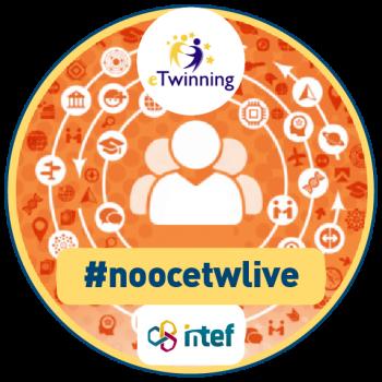 "Imagen insignia NOOC ""eTwinning Live (1ª edición)"" - #noocetwlive"