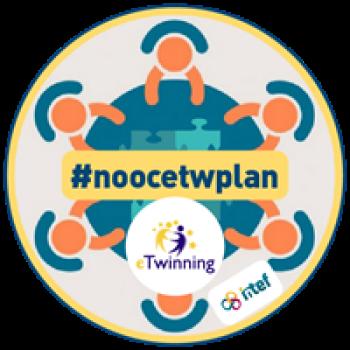 """Imagen insignia NOOC """"Diseña eTwinning (4ª Edición)"""" - #noocetwplan"""