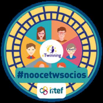"""Imagen insignia NOOC """"Busca tu socio eTwinning (4ª edición)"""" - #noocetwsocios"""