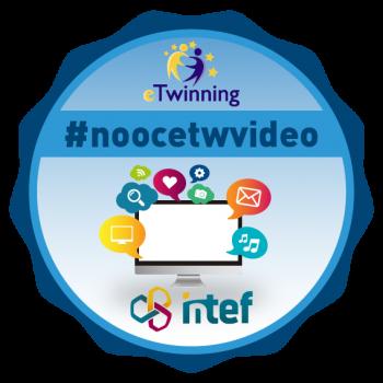"""Imagen insignia NOOC """"A """"videoconferenciar"""" en eTwinning (3ª Edición)"""" - #noocetwvideo"""