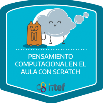Imagen insignia Curso tutorizado Pensamiento computacional en el aula con Scratch. Edición marzo 2019