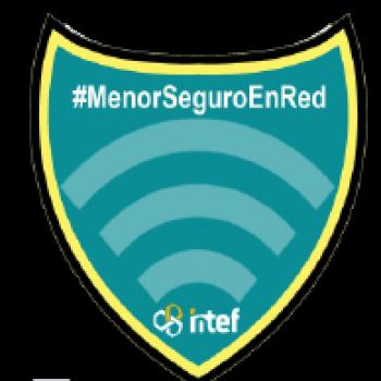 """Imagen insignia NOOC """"Menores y seguridad en la red""""  - #MenorSeguroEnRed"""